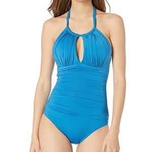 Kenneth Cole Keyhole Halter Swimsuit - Ocean *NWT